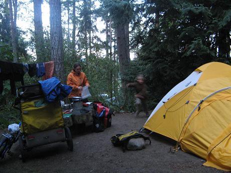 Campground, Ganges, Saltspring Island 2009